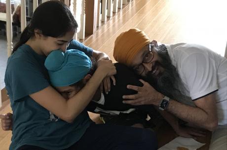 Dr. Kanwaljeet K. Maken with her family.