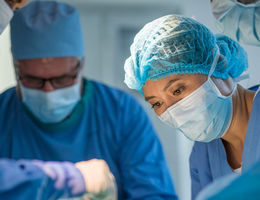 Physicians in a operating room