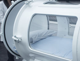 Photo of a hyperbaric oxygen chamber